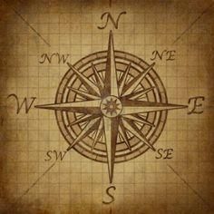Rosa de los vientos, con textura de edad grunge del vintage que representa un símbolo de dirección cartografía de posicionamiento para la...