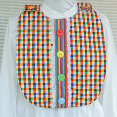 Adult Bib Apron Clothes Protector with Velcro Neck by NancyCDesign, $17.50