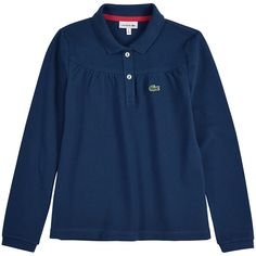 Lacoste Polo en piqué de coton Bleu