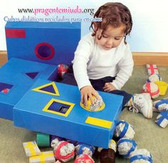 Olá!!!     Aí vai mais uma dica pra quem trabalha com crianças pequenas como mini maternal, creche e berçário. O mais legal é que esta é um... Toddler Learning Activities, Preschool Learning Activities, Baby Learning, Infant Activities, Montessori Toddler, Toddler Toys, Baby Club, Kids Education, Educational Toys