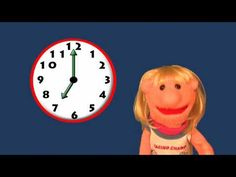 Listen to Sara as she explains how to read time on a wall clock. Take turns and try to tell Sara what time it is. Parents and teachers are encouraged to paus. Teaching Tools, Teaching Math, Maths, Homeschool Math, Homeschooling, Learn To Tell Time, Math Activities, Educational Activities, Daily 5 Math