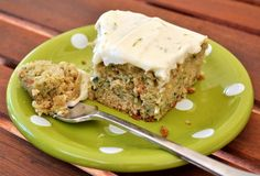 using up the zucchini!  zucchini cake with lime cream cheese frosting