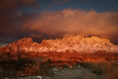 """Organ Mountains in Las Cruces, New Mexico, named that for the look of a """"pipe organ"""" peaks"""