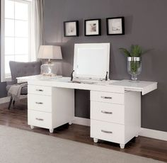 Verviers White Wood Vanity Desk By Furniture Of America. Verviers White Wood Vanity Desk By Furniture Of America. Verviers Vanity Desk W Lift Top Mirror By Furniture Of . Home and Family Home Decor Bedroom, Furniture, Furniture Vanity, Elegant Vanity, Home, Bedroom Dressers, Bedroom Design, Furniture Of America, Vanity Desk