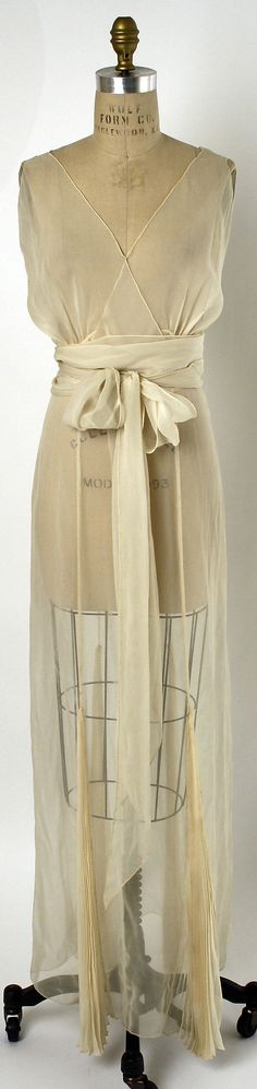 Nightgown 1935, American, Made of silk I think it would work well for a blouse in lightweight knits or soft and draping women's.