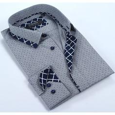 Coogi Mens & Navy Dress Shirt, Men's