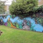 The mark of a good mural for me is one that fits into its surroundings, this one does exactly that.