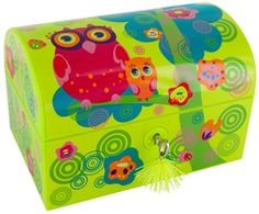 keladeco.com - #Coffre mon trésor #chouette, coffre de rangement #enfants - PYLONES