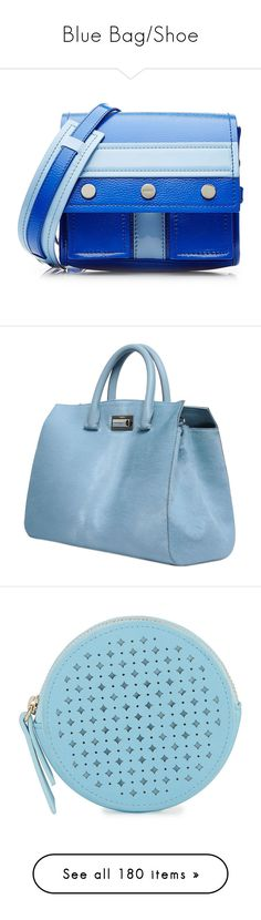 """""""Blue Bag/Shoe"""" by sunnyia ❤ liked on Polyvore featuring bags, handbags, shoulder bags, borse, purses, blue, purse shoulder bag, blue shoulder bag, blue leather handbags and leather hand bags"""
