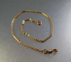 Vintage Victorian Watch Chain Gold Filled by LynnHislopJewels
