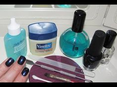 The best manicure routine ive seen on YT... ironically this is my pedicure routine literally (product and all) why i never thought to do a mani this way is beyond me! smh!
