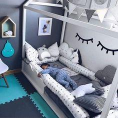 Custom order for Montessori bed bumpers toddler bed lit montessori, house pillowfloor toddler bedding crib pads tipi bolster, bolster pillow - Kinderzimmer