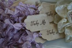 Hey, I found this really awesome Etsy listing at https://www.etsy.com/listing/62711946/wedding-favor-tags-take-me-set-of-24