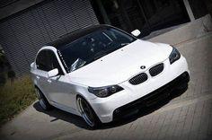 BMW E60 5 series black and white