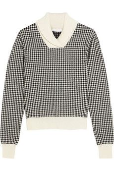 Houndstooth is my absolute FAV-O-RITE!! Chloé Houndstooth wool-blend sweater | NET-A-PORTER