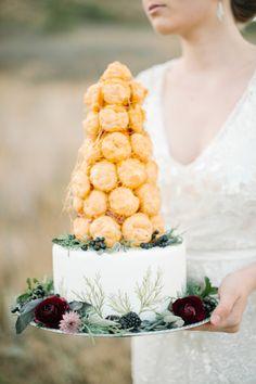 Croquembouche cake | Carrie King Photography | see more on: http://burnettsboards.com/2014/12/whimsical-elegant-bridal-inspiration/