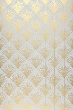 art deco 34 Ft Prix par rouleau (par m - art Motif Art Deco, Art Deco Pattern, Gold Pattern, Art Deco Design, Wall Design, Pattern Design, Art Deco Art, Wallpaper Art Deco, Gold Wallpaper