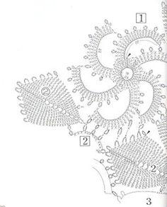 View album on Yandex.Photo from album Crochet Creations Hors-serie l'ABC crochet irlandes on Yandex. Form Crochet, Crochet Doily Patterns, Crochet Diagram, Lace Patterns, Crochet Home, Irish Crochet, Crochet Motif, Crochet Doilies, Crochet Flowers
