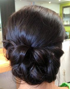 Wedding updo, wedding hair, bridal hair, chignon, textured updo, classic updo, asian bridal hair More