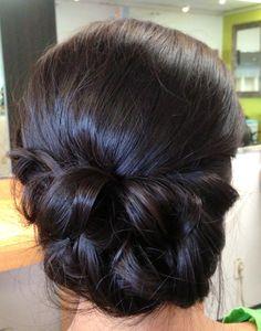 Wedding updo, wedding hair, bridal hair, chignon, textured updo, classic updo, asian bridal hair