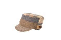 Tan & Gray Billed Hat