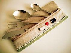 idee di Chiara: Porta posate da viaggio - Travel cutlery bag
