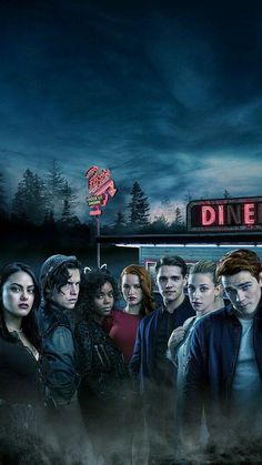 Cole Sprouse with the cast of Riverdale Riverdale Netflix, Riverdale Cw, Riverdale Funny, Riverdale Memes, Alice Cooper Riverdale, Riverdale Season 1, Riverdale Wallpaper Iphone, Riverdale Poster, Riverdale Veronica