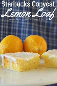 if you love lemon pound cake you'll go crazy over this Starbucks Copycat Lemon Loaf Recipe