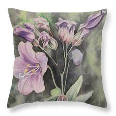 Purple Delight Wildflowers Throw Pillows