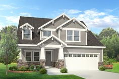 Campbell - 2 Story Craftsman style house plan - Walker Home Design