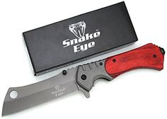 Snake Eye Tactical Heavy Duty Assisted Open Razor Style Folding Pocket Knife Outdoors Camping Hunting Fishing (Wood). For product & price info go to:  https://all4hiking.com/products/snake-eye-tactical-heavy-duty-assisted-open-razor-style-folding-pocket-knife-outdoors-camping-hunting-fishing-wood/