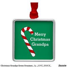 Christmas Grandpa Green Ornament by Janz