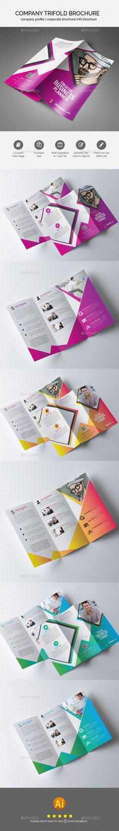 Business Trifold Brochure — Vector EPS #a4 #free • Available here → https://graphicriver.net/item/business-trifold-brochure/17756817?ref=pxcr