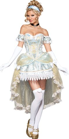 18de0ef03a Sexy Halloween Deluxe Adult Passionate Princess Cinderella Costume w Gloves