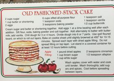 The Apple Barn Old Fashioned Stack Cake