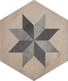 #Marca Corona #Terra Stella Esagonale Vers. F 25x21,6 cm 0404   #Gres #cementine #25x21,6   su #casaebagno.it a 61 Euro/mq   #piastrelle #ceramica #pavimento #rivestimento #bagno #cucina #esterno