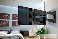 TV wall mount - swivel a solution for living room TV viewing angles Weisser TV wall mounts Corner Tv Wall Mount, Diy Tv Wall Mount, Tv Wall Mount Bracket, Wall Mounted Tv, Tv Mounted In Corner, Tv Wand Design, Tv Stand Room Divider, Hanging Tv, Support Mural Tv