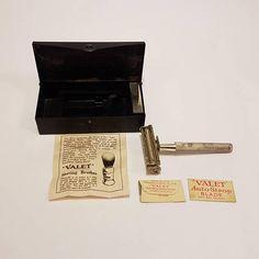 Vintage Valet Auto Strop Safety Razor Set with Original Blades #mensgrooming #vintage