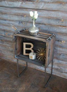 diy table crate pipe industrial, diy, painted furniture, repurposing upcycling, rustic furniture