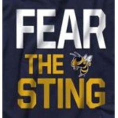 Georgia Tech Yellow Jackets Navy Fear The Sting T-Shirt