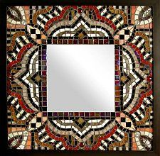 "Symphony by Sandra Bryant and Carl Bryant (Mosaic Mirror) (19.25"" x 19.25"")"