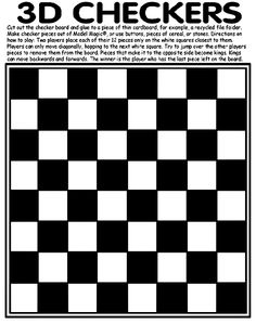 3D Checkers coloring page