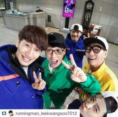 Song Ji Hyo, Lee Kwang Soo, Yoo Jae Suk, Kim Jong Kook and Ji Suk Jin, Running Man ep. 280 via Instagram