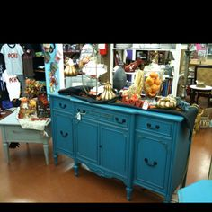 Very old buffet, given a new life And new paint!