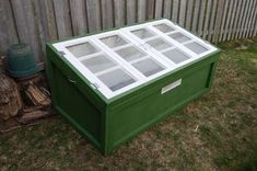Instructions on building a nice cold frame from old house windows - totally doable.
