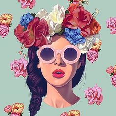 Colorful & Flowery Portrait by @erickdvila #illustration #creativity #colors #fubiz #portrait #artwork Mention @fubiz if you want to be featured on our Instagram