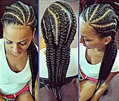 Braided Hairstyles • Cornrow Styles • Corn - rowed Hair • Corn Rows • French…