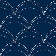 large wave stitch fabric by ali*b on Spoonflower - custom fabric