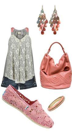 Toms Women's Classics Crochet Pink Shoes