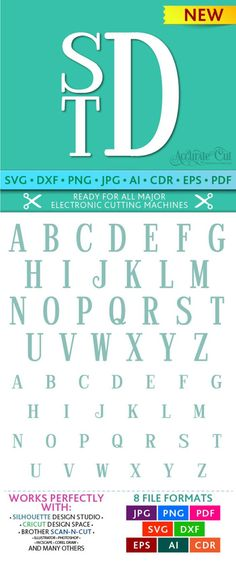 Stacked Monogram Svg Stacked Monogram Font Svg Stacked Font Svg Alphabet Cut Files Silhouette Studio Cricut Svg Dxf Jpg Png Eps Pdf Ai Cdr